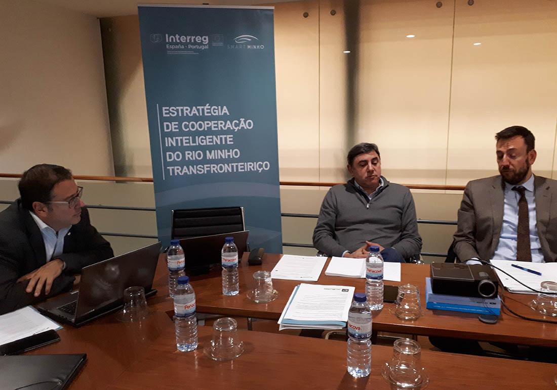 Xuntanza de traballo entre equipo do Smart Minho e os concellos de Valença e Tui
