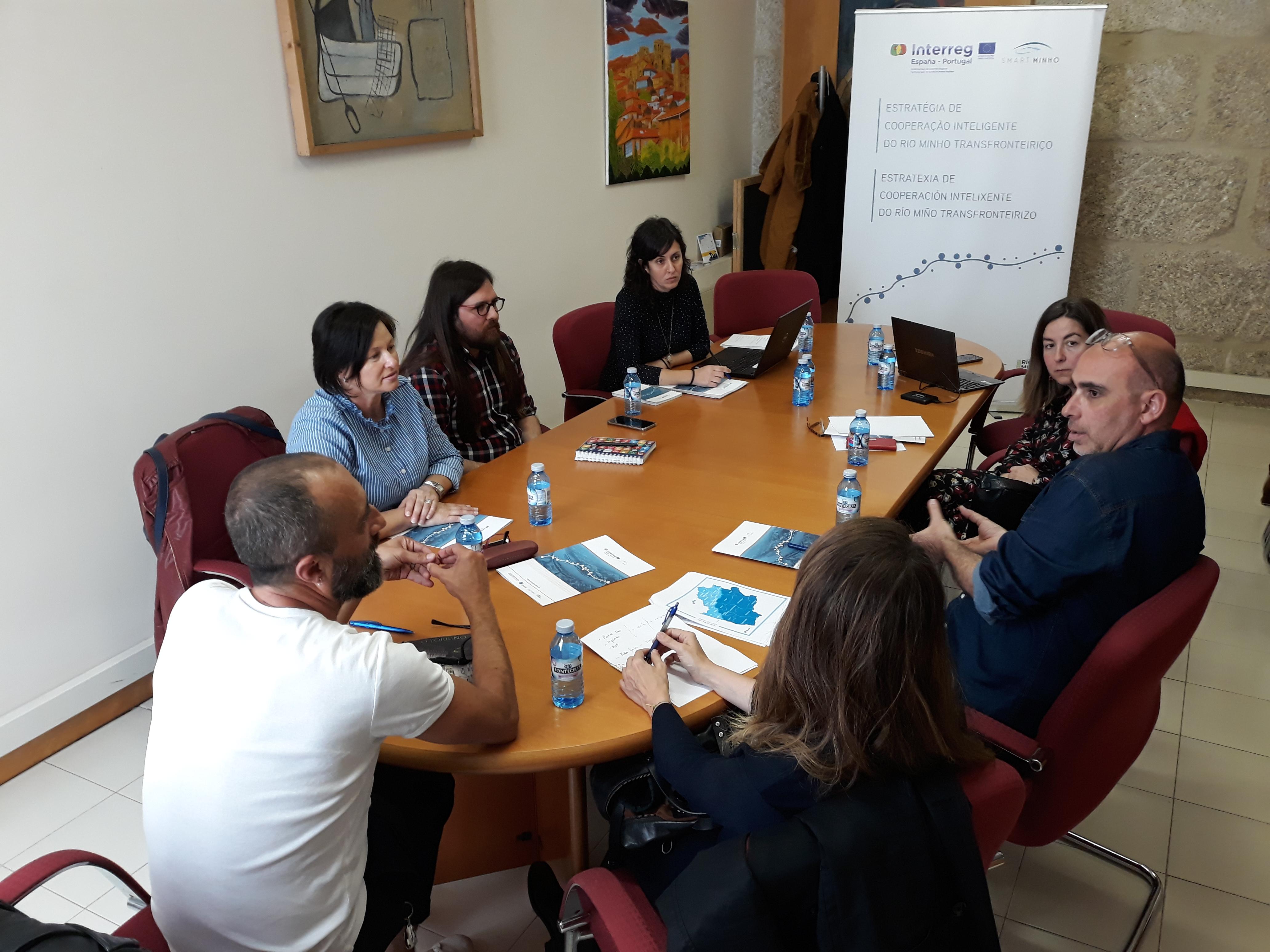 Reunión con técnicos de cultura municipais da marxe galega do territorio do Río Miño