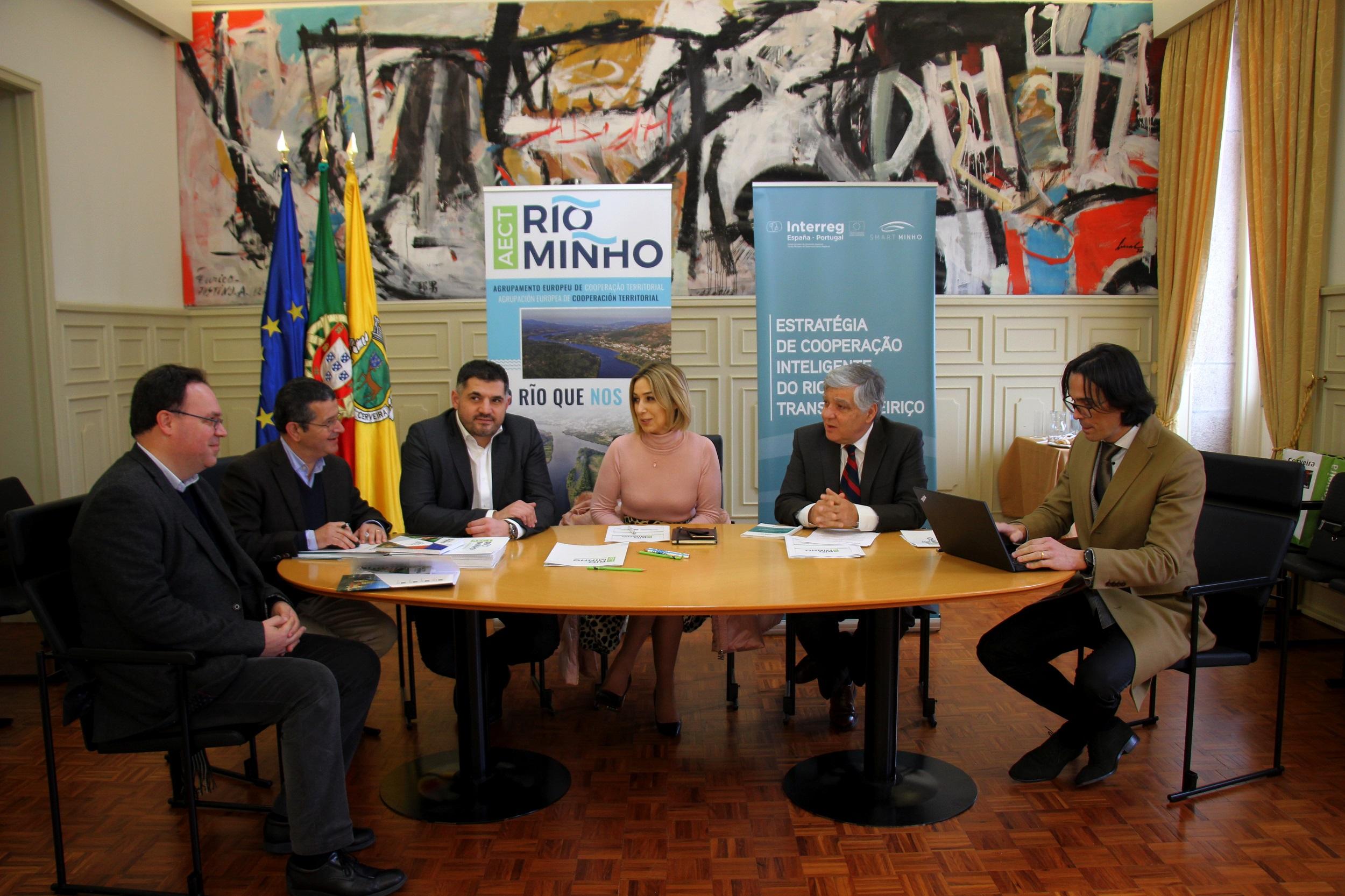 Reunión secretaria estado Portugal para valorar o ITI transfonteirizo