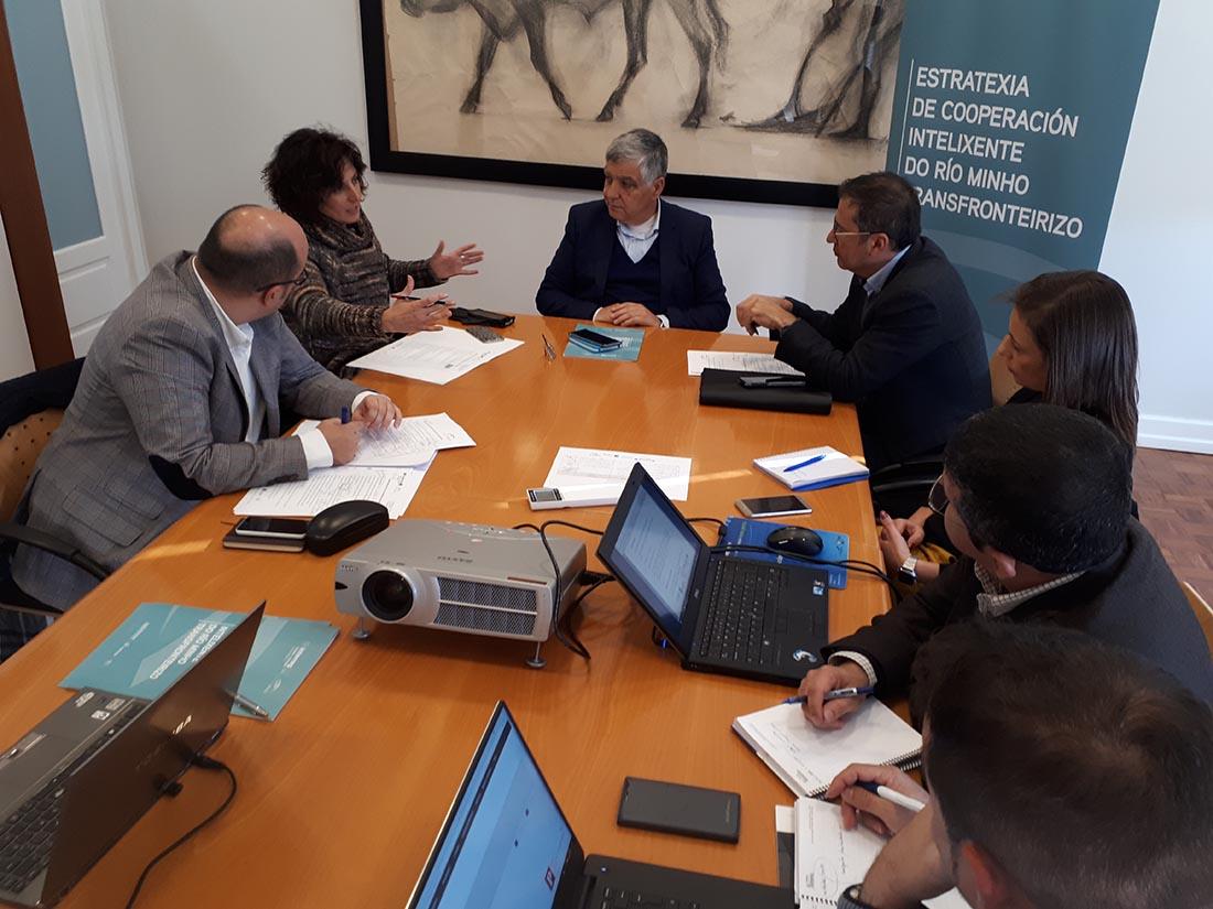 Xuntanza de Vila Nova de Cerveira e Tomiño con Deputación de Pontevedra e CIM Alto Minho