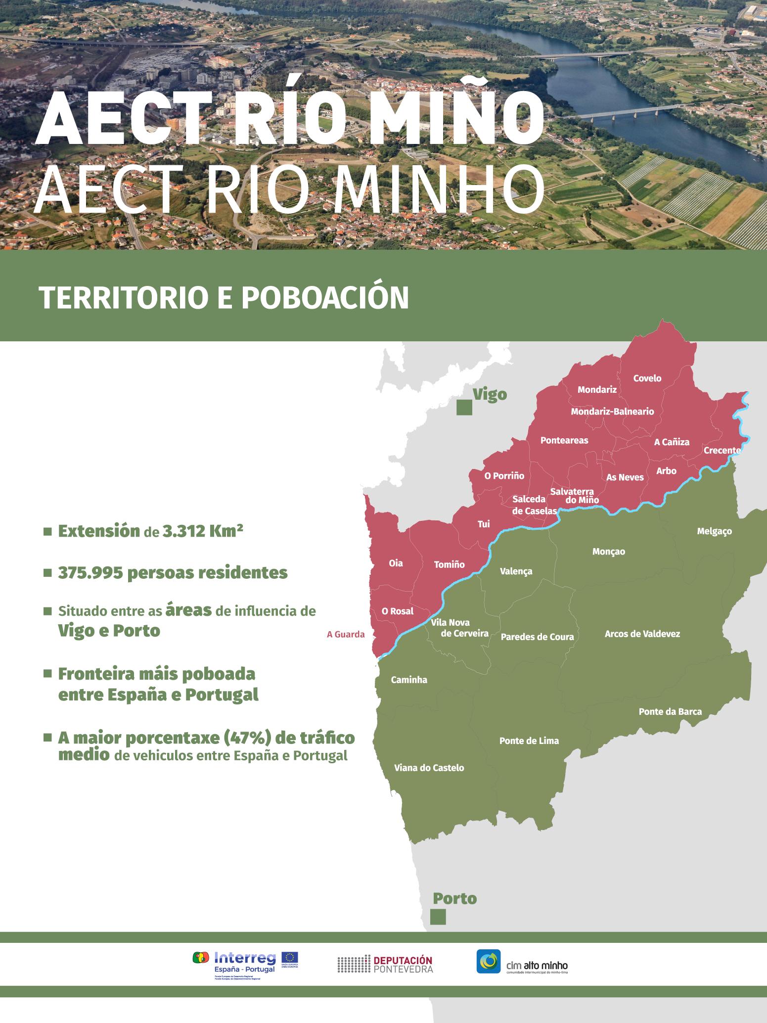 AECT RÍO MIÑO - TERRITORIO E POBOACIÓN